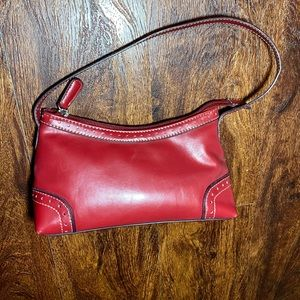 Tommy Hilfiger Red w/Cream stitching Mini Handbag